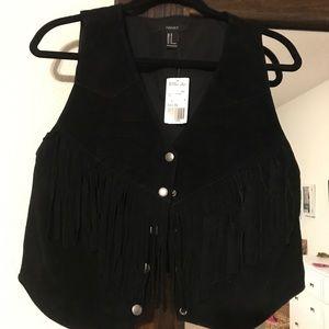 Black Fringe Vest